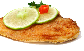 Roasted flounder with lime