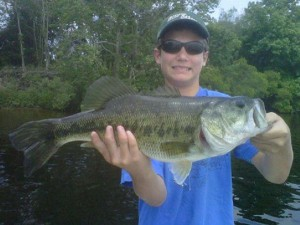 NC Bass Fishing charters client with LMB